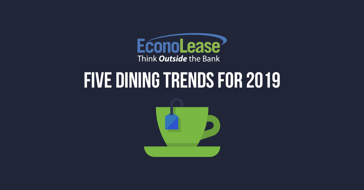 Five Dining Trends for 2019